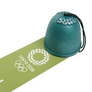 南部鉄器【岩手県】南部風鈴(緑) 東京2020オリンピックエンブレム クロッピング
