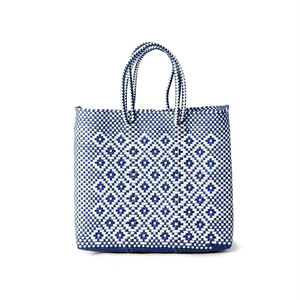 MERCADO BAG ROMBO - White x Navy(S)