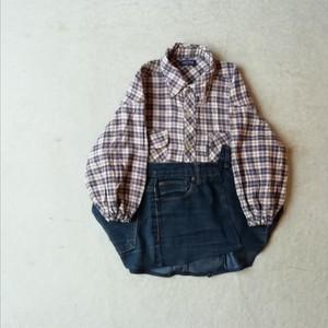 [ゆったり感がかわいい!]リメイクオーバーシャツ