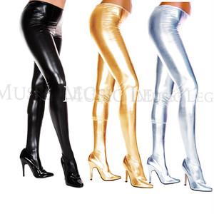 【Music Legs】ML36112 Wet look pantyhose メタリックカラー