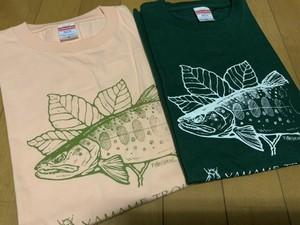 サンプルカラー放出。蛙スプーンコラボ・ヤマメTシャツ