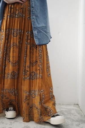 NOWOS /  bandana print skirt(brown)
