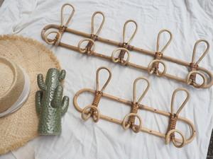 5 rattan wall hanger