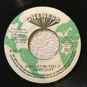 7'EP / Jimmy Clif / Baby Let Me Feel It