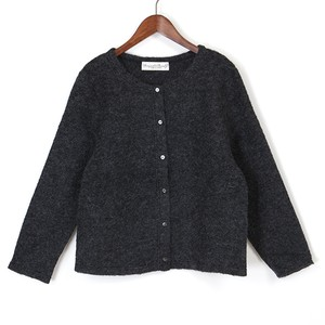 mohair knit cardigan / black