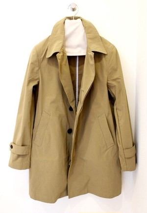FOB FACTORY Soutien Collar Coat Beige