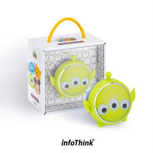 InfoThink Bluetoothスピーカー Disney ディズニー ツムツム LEDライト 5V/0.5A リトルグリーンメン BSP100-Aliens