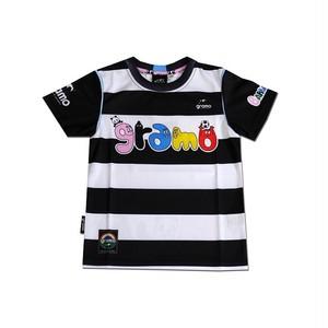 BARBAPAPA×gramo コラボ プラシャツ「HELLO!」(ブラック/P-027) ※110cm~150cm