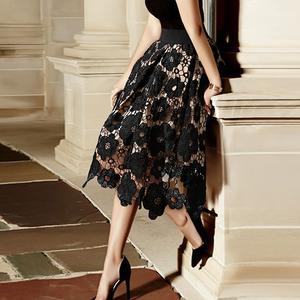 【ボトムス】ファッションレース無地エレガントAラインスカート22449408