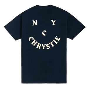CHRYSTIE SMILE Logo T-Shirt  BLACK L クリスティ ニューヨーク Tシャツ