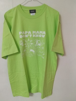 """MANAGE*DESTROY /""""PAPA MAMA DON'T KNOW"""" lime green  Ts size:XL/by ZEROSY"""