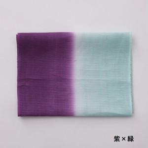 2021 かわせみ  帯揚  麻二色暈:紫 × 緑