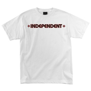 INDEPENDENT BAR CROSS TEE - White