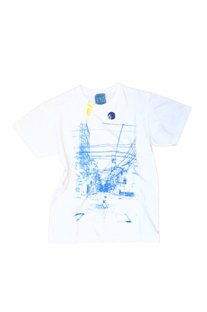 NO.392 九品仏駅前のTシャツ【東京都】【XSサイズ】