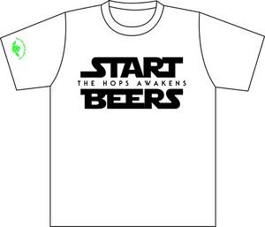 START BEERS Tシャツ ホワイト〔両面〕【半袖】