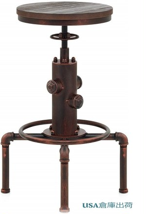 BestonStyle アメリカン アンティークビンテージチェア 4色 American Antique Vintage Industrial Barstool Solid Wood Water Pipe Fire Hydrant Design Cafe Coffee Industrial Bar Stool