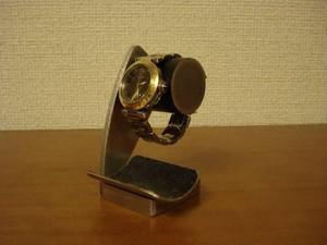 腕時計スタンド 腕時計スタンド ブラックコルクデスク腕時計スタンドブラックトレイ付き No.120214