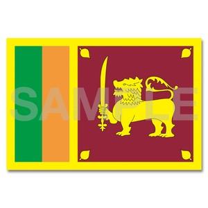 世界の国旗ポストカード <アジア> スリランカ民主社会主義共和国 Flags of the world POST CARD Democratic Socialist Republic of Sri Lanka