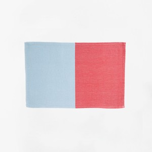 HH Placemat Light Blue and Salmon