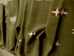 絹 織り柄に染め