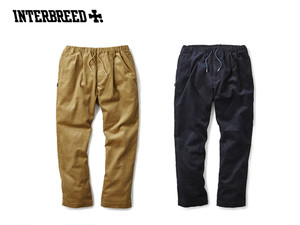 【restock】INTERBREED PLEATED CORDUROY RELAX TROUSER