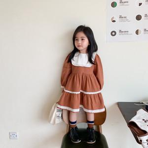 【先行予約】プリンセス風ブラウンワンピース