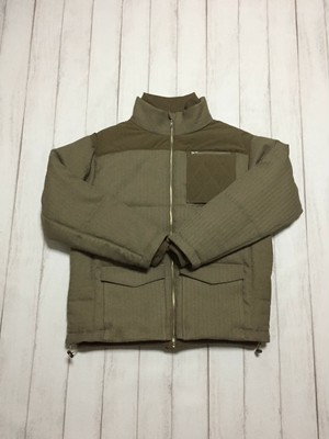 quilted pocket jacket / beige