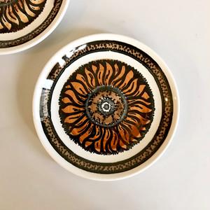 """BILTONS"" Iron Stone Sunflower Cake Plate 1970's イギリス"