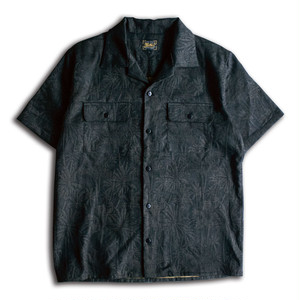 PALM TREE JACQUARD S/S SHIRTS Black
