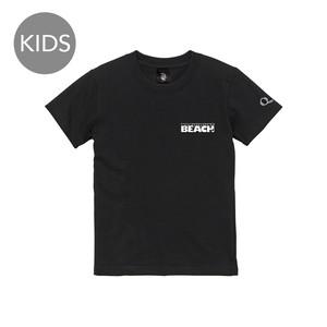 beach logo 半袖 黒 KIDS