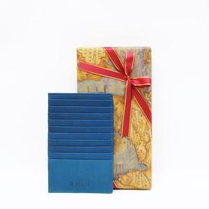 【B.stuff】シンプルカードケース(マチ付き)ブルー
