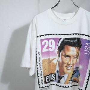 【USED】スクエアプリント エルビス・プレスリー 裾リメイク Tシャツ 半袖