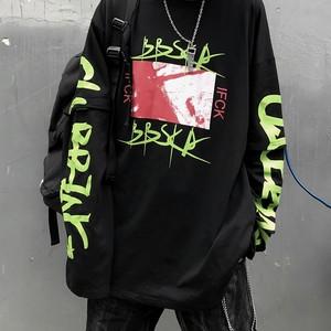 【トップス】原宿風アルファベット切り替えカジュアルTシャツ26421640