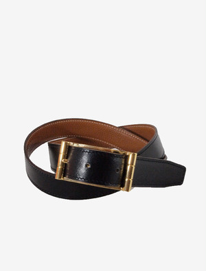 HERMES LETHER BELT MEN'S