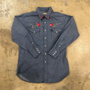 Wrangler 70's Embroidery Shirts ¥5,200+tax