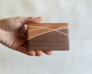 【ご自分用におすすめ】 木製 寄木 名刺入れ/カードケース【C】 【送料無料】