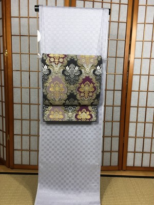 モダンアート柄袋帯
