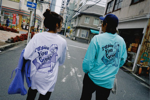 Chocolate Boy L/S Tee【White / Mint】