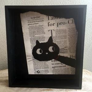 黒猫イラスト+トレーボックスB