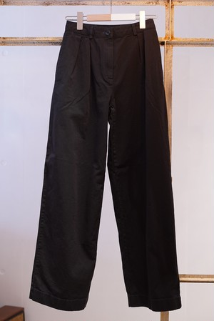 Acne Studios / COTTON TWILL TROUSERS (BLACK)