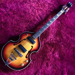 "c.1967-1969 Honey/Teisco SEB-30 MIJ Vintage Violin Bass""Sunburst"""
