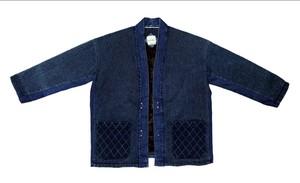 19AW インディゴ刺し子キモノジャケット /  Indigo sashiko kimono jacket
