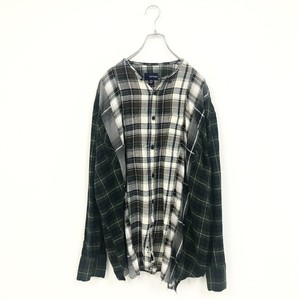 REMAKE CHECK SHIRT(BROWN)