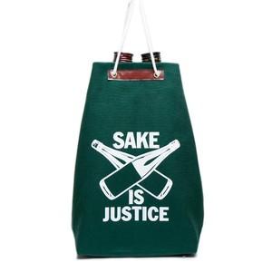 【5月再入荷】【通い袋】SAKE 袋 IS JUSTICE / 深緑