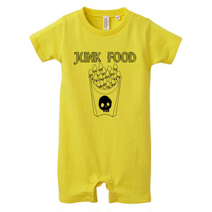 [ロンパース] skull French fries / yellow