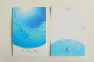 奄美ポストカード「ウミガメ・スイム」