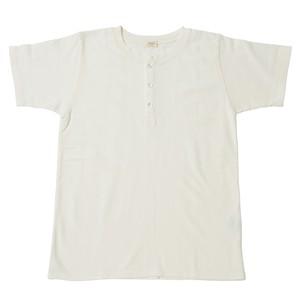 ※アウトレット品 Women's 鹿の子ヘンリーネックシャツ White 1サイズ №47
