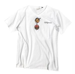 5/18(金)21:00キャンセル分再入荷!人気NO.1!!サングラスMickeyTシャツ(White)¥3500+tax