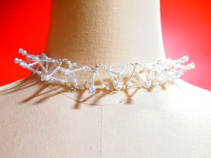 Three-dimensional Toge CHOKER[White]