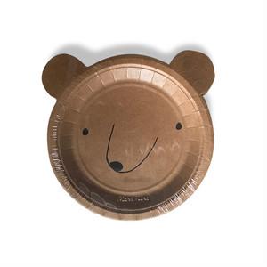meri meri - paper plate / ペーパープレート ( BEAR ) 12枚入り